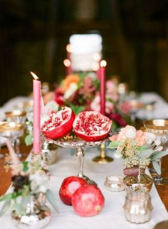 30-Gorgeous-Ways-To-Incorporate-Pomegranates-Into-Your-Wedding-Day23